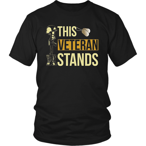 This Veteran Stands For The Flag American Shirts