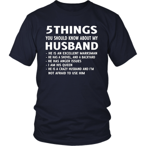 5 Things You should Know About My Husband T-Shirt
