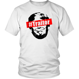 #Traitor Traitor Anti Trump Shirt Resist Protest, Black
