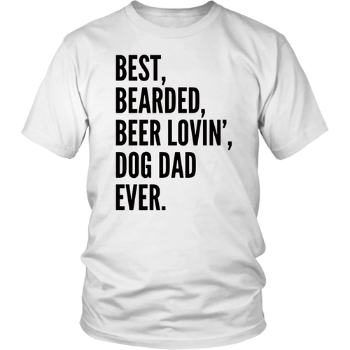5ffb78a9 Funny Bearded Dad T-Shirt | Beer Lover Dog Owner Gift T-Shirt