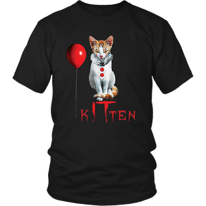 Clown Cat Kitten IT Halloween T-Shirt