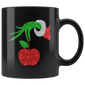 Teacher Grinch Hand Holding Apple Ornament Mugs