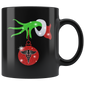 Grinch Hand Holding Funny Christmas Nurse Mugs
