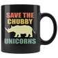 Save The Chubby Unicorns Vintage Retro Mugs