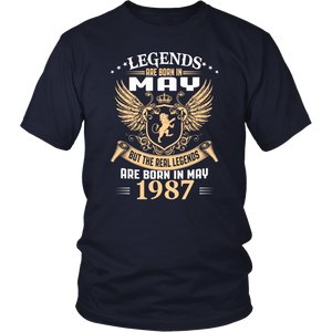 Kings Legends Are Born In May 1987 T-Shirt