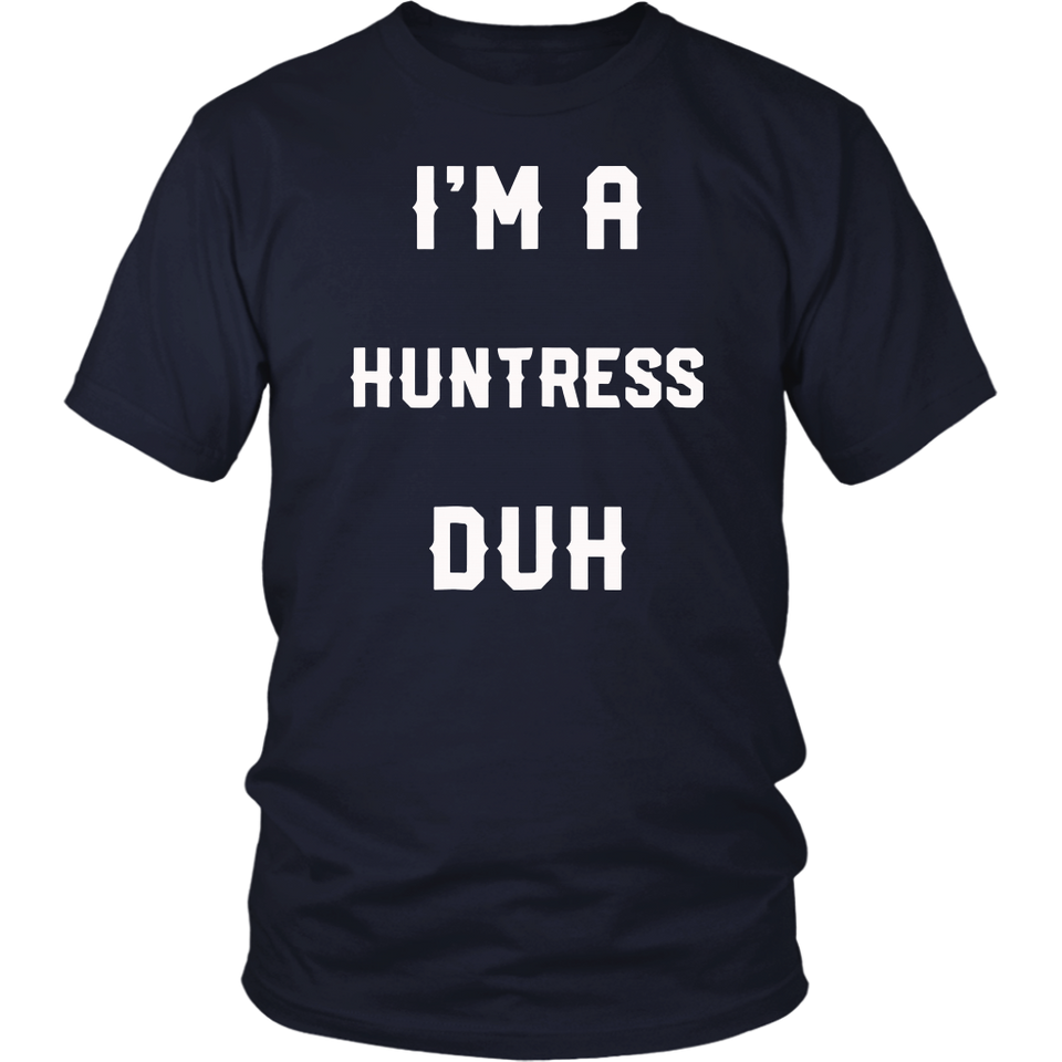 halloween easy huntress costume shirts, i'm a huntress duh – teefim