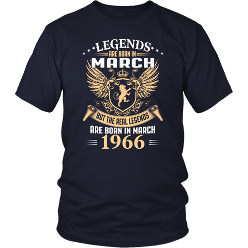Legends Are Born In March 1966 T-Shirt