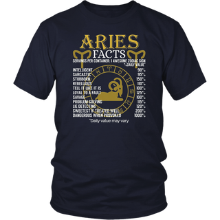 Aries Facts Zodiac Sign T-Shirt