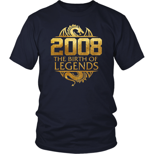 2008 The Birth Of Legends Vintage Classic 10 Yrs Years Old T-Shirt