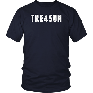 TRE45ON Treason President Trump Distressed T-Shirt T-Shirt