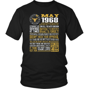 Best Born in May 1968 Facts Shirts