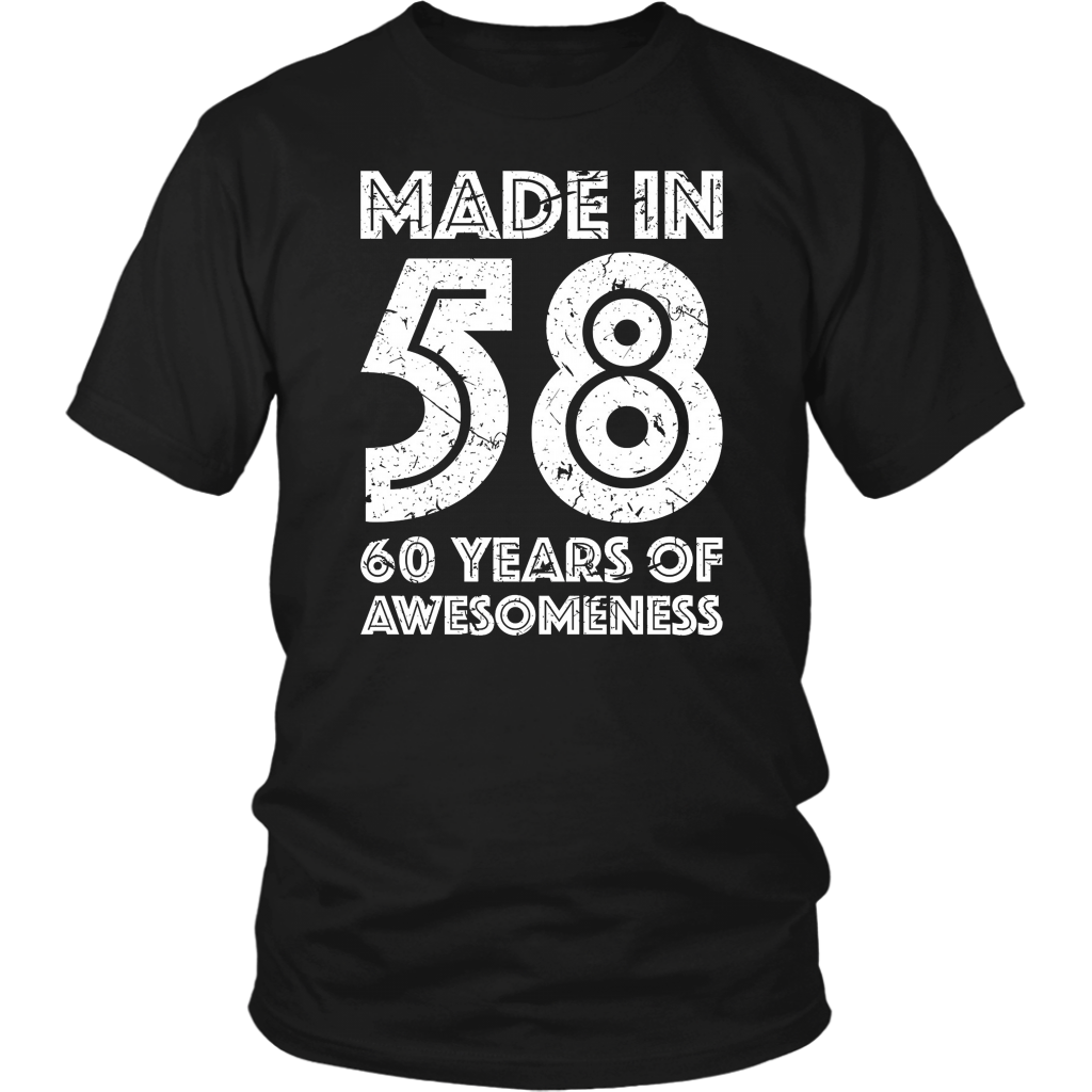 60th Birthday Gift Adult Age 60 Year T Shirt
