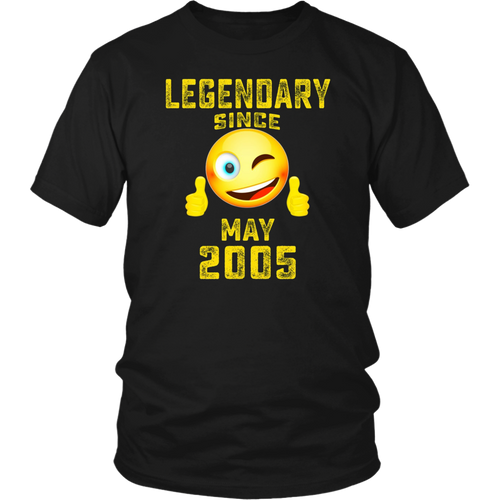 Emoji Legendary Since May 2005 13th Year 13 Birthday Shirt