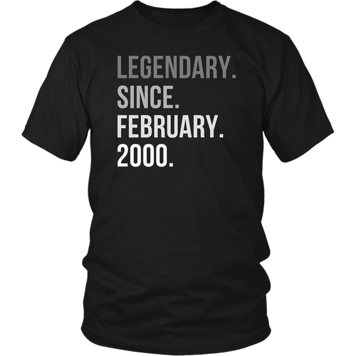 Legendary Since February 2000 Shirt