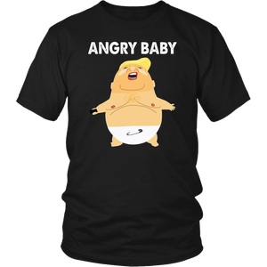 angry baby funny balloon anti trump impeach t-shirt