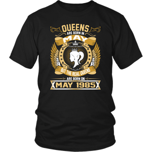 The Real Queens Are Born On May 1985 T-Shirt