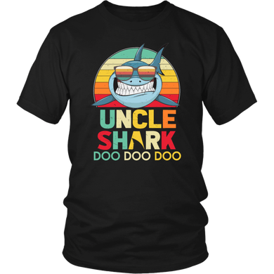 Retro Vintage Uncle Sharks Doo Doo Doo T-Shirt