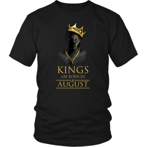 Kings Are Born August Gift For Panthers Awesome Shirt