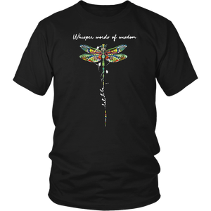 Whisper Words of Wisdom Let It Be Dragonfly T-Shirt
