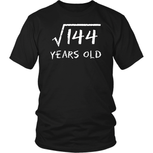 Square Root of 144: 12th Birthday 12 Years Old T-Shirt