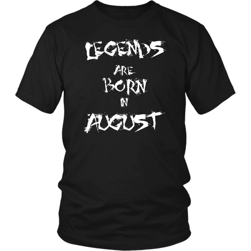 Lion Legends Are Born In August Birthday Tshirt