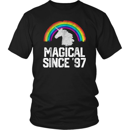 Unicorn Rainbow 1997 21 Year Old 21st Birthday T-Shirt Gift