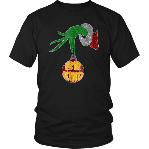 Be Kind Grinch Hand Holding T-Shirt