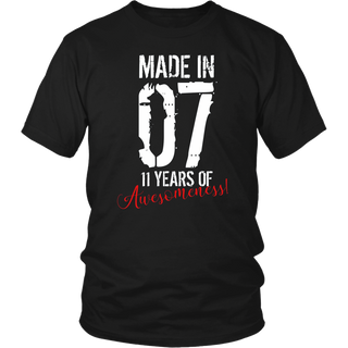 11 Year Old Birthday Gift Shirt Awesome 11th Birthday Gift