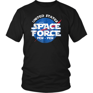 United States Space Force Pew-Pew T Shirt - Cool USSF Shirt