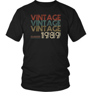 Retro Classic Vintage Born In 1989 - 29th Gift 29 Years Old T-Shirt