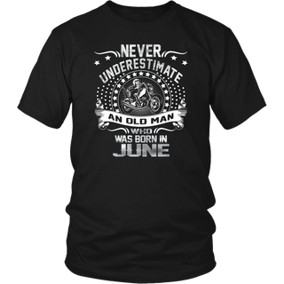 Never Underestimate Old Man Born In June Vintage T-Shirt