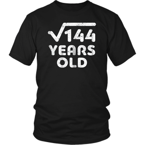 Square Root Of 144 T-Shirt Cool 12th Birthday Gift
