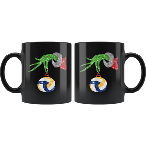 Grinches Volleyball Funny Christmas Mugs