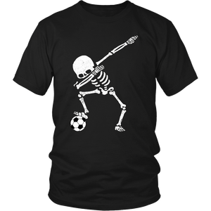 Halloween Dabbing Skeleton Soccer Shirt Dab Pose Soccer Ball