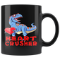 Dinosaur Mugs Valentines Day Heart Crusher T Rex Boys Kids