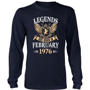 Legends Are Born In February 1975 T-Shirt