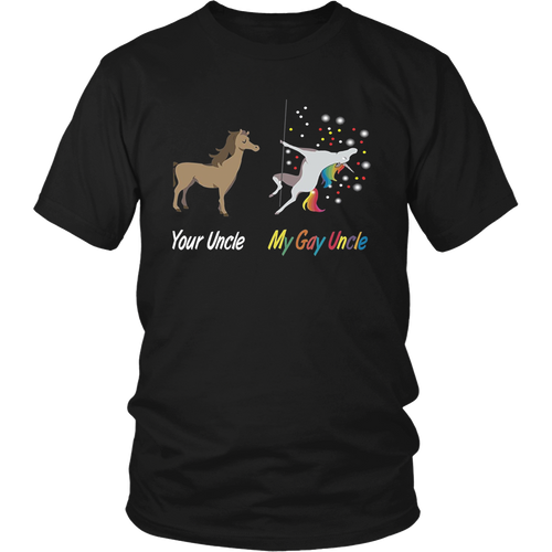 Your Uncle My Gay Uncle Unicorn Long sleeve T-shirt