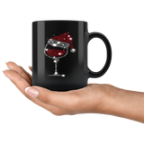 Wine Glass Christmas Hat Mugs