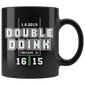 Double Doink Football Mugs