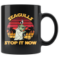 Vintage Seagulls Stop It Now Mugs For Men Women Kids