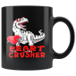 Dinosaur Valentines Day Heart Crusher T Rex Boys Kids Mugs