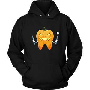 Halloween Tooth Pumpkin Dentist Funny Gift T-Shirt