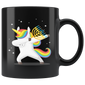 Unicorn Dabbing Happy Hannukah Mugs Merry Chrismukkah
