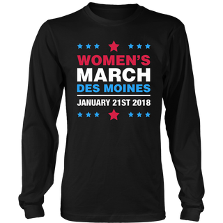 Women's March Des Moines Iowa 2018 T-Shirt