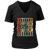Retro The Birth Legend February 2015 3rd Birthday Gifts T Shirt