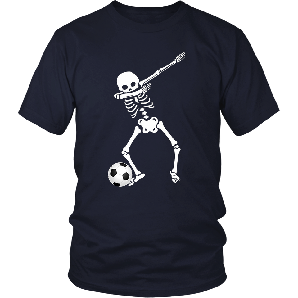 Halloween Dabbing Skeleton Soccer Shirt Cool Dab Soccer Play