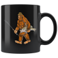 Bigfoot Bass Fishing Gear Sasquatch Men Gifts Kids Mugs