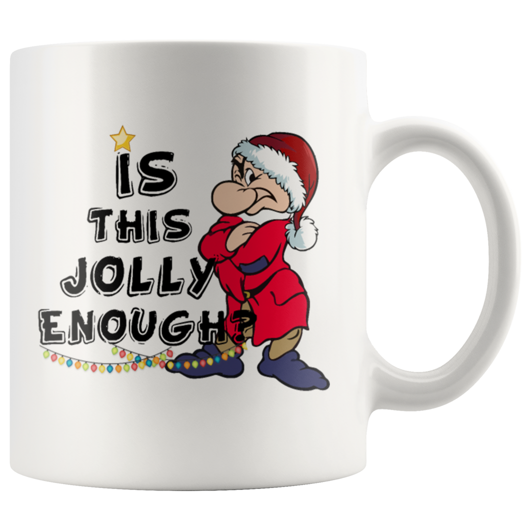 Is This Jolly Enough Christmas Mugs