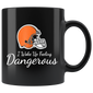 Dangerous Baker Mayfield Brown Football Mugs
