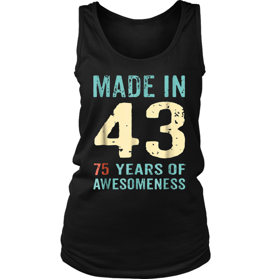 75th Birthday Gift Adult Age 75 Year Old Women Womens
